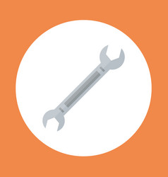 Spanner icon working hand tool equipment concept vector