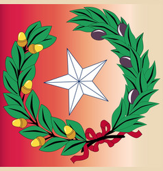 Texas laurel leaf and star vector