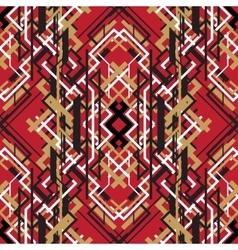 Trendy linear style red design seamless pattern vector image vector image