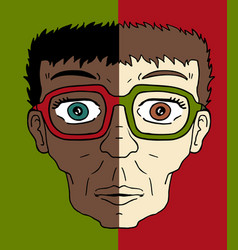 two faces vector image vector image