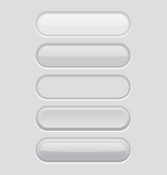 white oval buttons light user interface elements vector image vector image