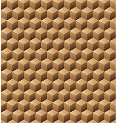 Wooden cubes seamless texture vector image