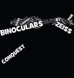 Zeiss binoculars p bt text background word cloud vector