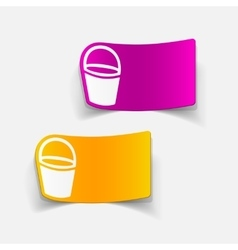 Realistic design element bucket vector