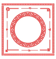 Chinese style art boarder frame element for design vector