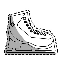 Isolated ice skate design vector