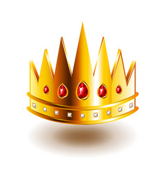 Crown with sharp teeth isolated on white vector