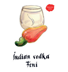 Indian vodka feni it means cashew vector