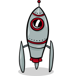 Rocket spaceship cartoon vector