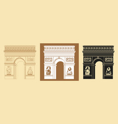 Set of triumphal arch vector