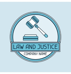 Law and justice company name concept emblem vector