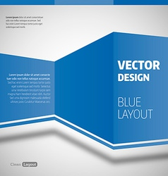 Blue layout vector