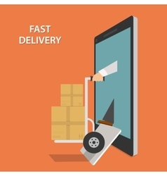 Fast goods delivery isometric vector
