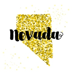 Golden glitter of the state of nevada vector