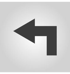 The left icon direction and arrow navigation vector