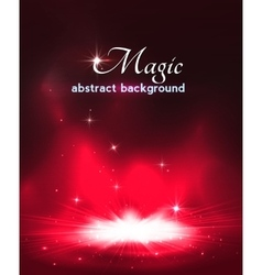 Magic stage background with smoke and stars vector