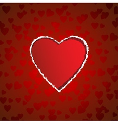 Heart shaped torn paper vector