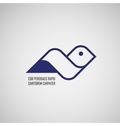 Sign abstract bird in flight vector