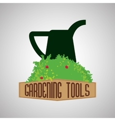 Gardening design tool concept natural icon vector