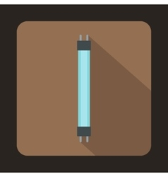 Fluorescence lamp icon in flat style vector