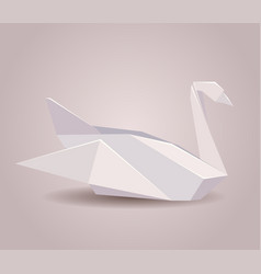 a paper origami swan vector image