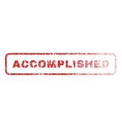 Accomplished rubber stamp vector