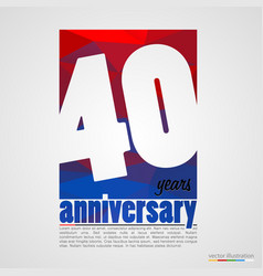 Anniversary modern colorful abstract background vector