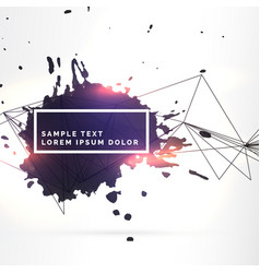background with black ink splatter and lines vector image