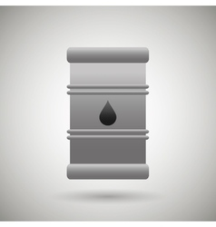 barrel oil design vector image