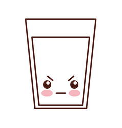 beverage glass kawaii character vector image vector image