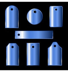 Blue labels vector
