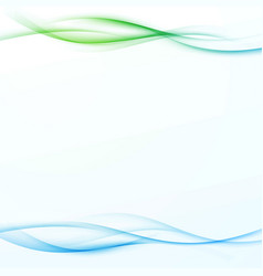bright abstract green blue gradient beautiful vector image