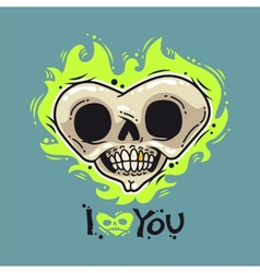 Burning Dead Heart Loves You vector image vector image