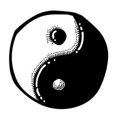 cartoon image of ying yang icon vector image