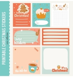 Collection of Cute Journaling Cards vector image vector image