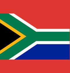 Colored flag of south africa vector