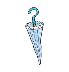 comic cartoon parasol vector image