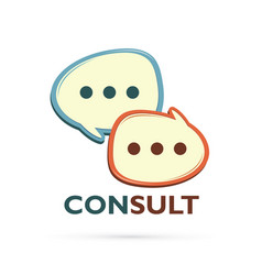 consult and speak balloon logo vector image
