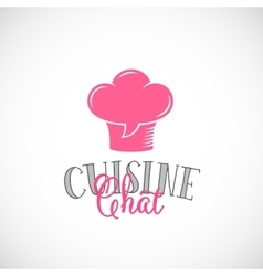 Cuisine chat abstract logo template chef vector