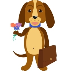 dog back to school of a cartoon vector image vector image