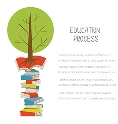 Educational concept with books and tree design for vector image
