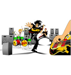 great rock musicians vector image vector image