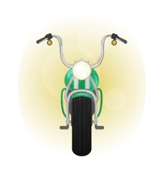 Green motocycle front view vector