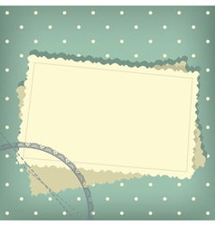 greeting scrap retro background vector image vector image