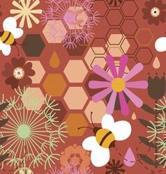 Honey bee background vector