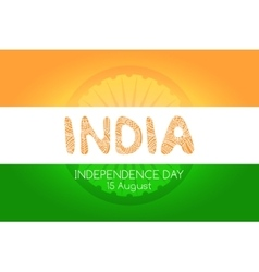 Indian independence day background concept vector