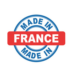 Made in france emblem flat vector