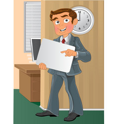 Office worker with text background in office vector image vector image