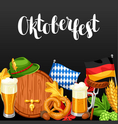 oktoberfest welcome to beer festival invitation vector image