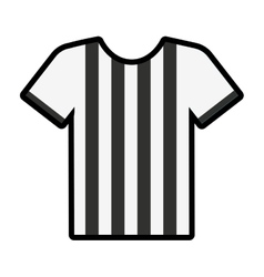 referee shirt uniform icon vector image vector image